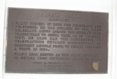 Frank Bell Marker image. Click for full size.