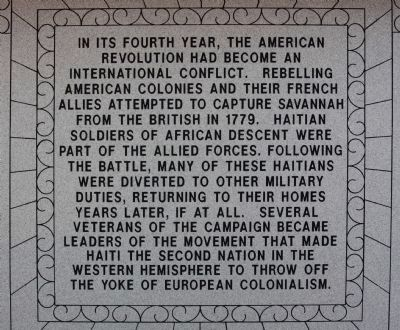 Haitian Monument Marker west face image. Click for full size.