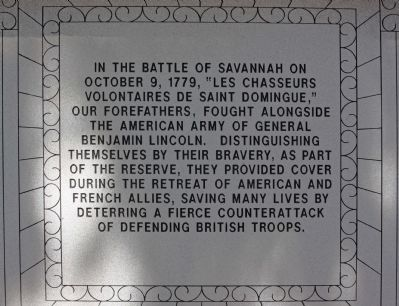 Haitian Monument Marker, southeast face image. Click for full size.