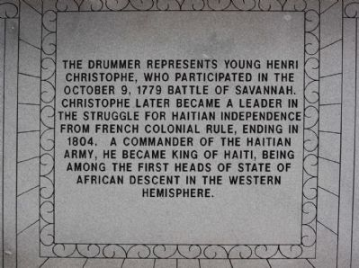 Haitian Monument Marker, northeast face image. Click for full size.