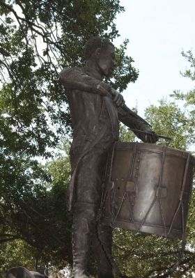 Haitian Monument statue that represents young Henri Christophe as a drummer image. Click for full size.