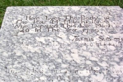 Epitaph on Grave of Rev. Malachi Jones image. Click for full size.