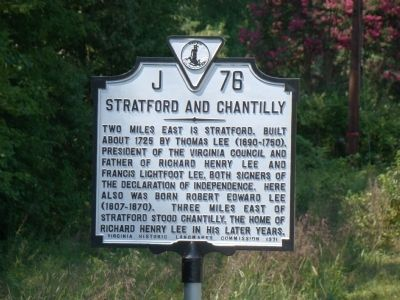 Stratford and Chantilly Marker image. Click for full size.