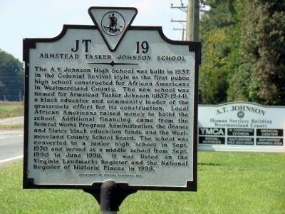 Armstead Tasker Johnson School Marker image. Click for full size.