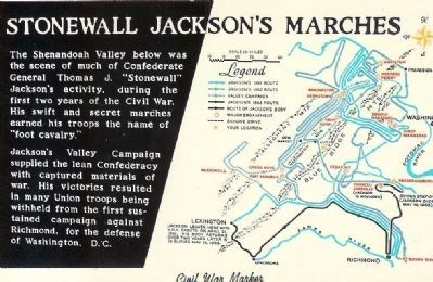 Stonewall Jackson's Marches Marker image. Click for full size.