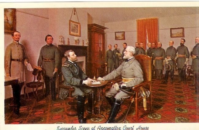 Surrender scene at Appomattox Court House image. Click for full size.