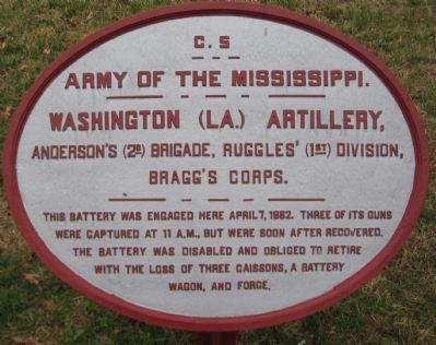 Washington (La.) Artillery Tablet image. Click for full size.