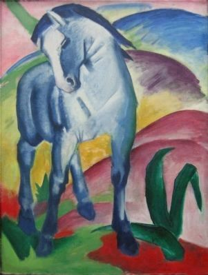 <i>Blaues Pferd I</i> by Franz Marc, 1911 image. Click for full size.