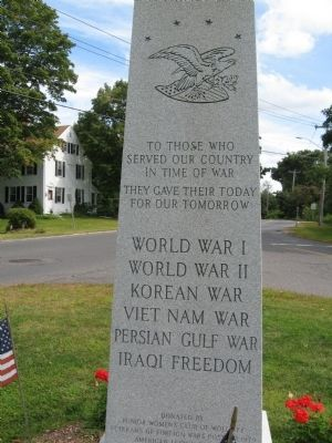 Wolcott Veterans Monument image. Click for full size.