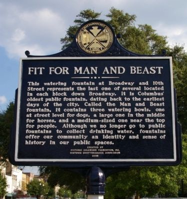 Fit for Man and Beast Marker image. Click for full size.