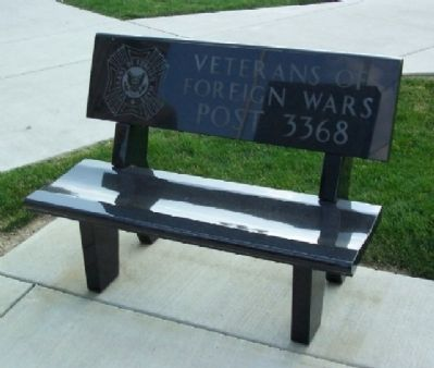 Mount Pleasant Veterans Memorial VFW Bench image. Click for full size.