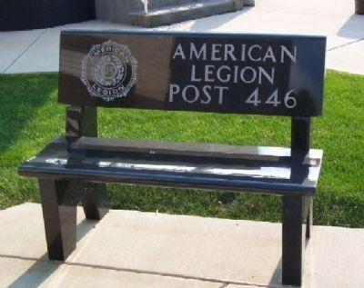Mount Pleasant Veterans Memorial Legion Bench image. Click for full size.