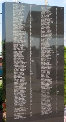 Mount Pleasant Veterans Memorial Panel image. Click for full size.