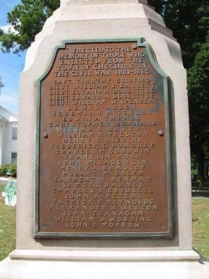 Cheshire Civil War Monument [East face] image. Click for full size.