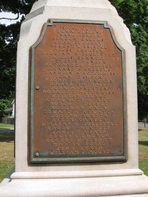 Cheshire Civil War Monument [South face] image. Click for full size.