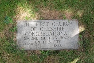 First Church Of Cheshire Marker image. Click for full size.