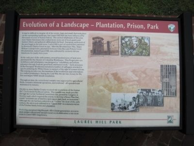 Evolution of a Landscape – Plantation, Prison, Park Marker image. Click for full size.
