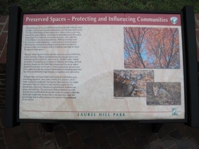 Preserved Spaces – Protecting and Influencing Communities Marker image. Click for full size.