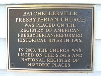 Batchellerville Presbyterian Church Plaque image. Click for full size.