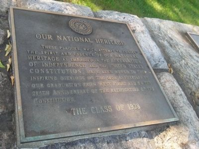 Our National Heritage Marker image. Click for full size.