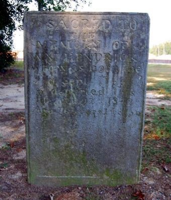 William Hendrix Tombstone -<br>Located Adjacent to the Cabin image. Click for full size.