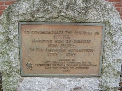 Cheshire Revolutionary War Monument image. Click for full size.