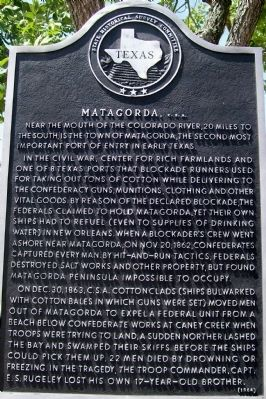Matagorda C.S.A. Marker image. Click for full size.