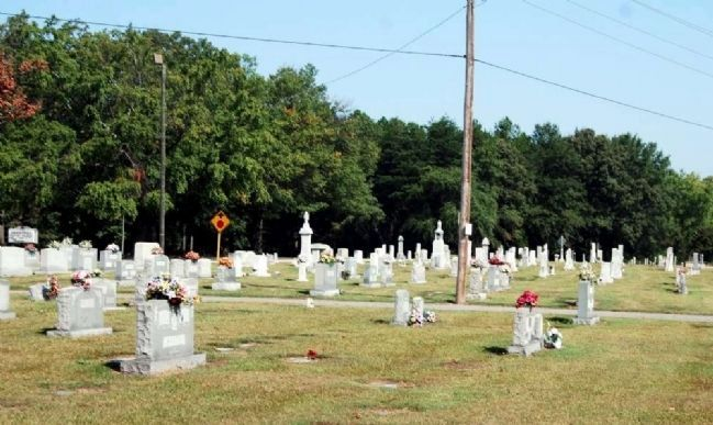 Abner Creek Baptist Church Cemetery -<br>From the Hendrix Cabin Front Porch image. Click for full size.