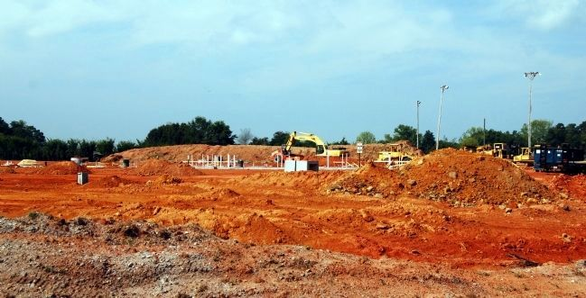 Construction Site of the New Abner Creek Baptist Church image. Click for full size.