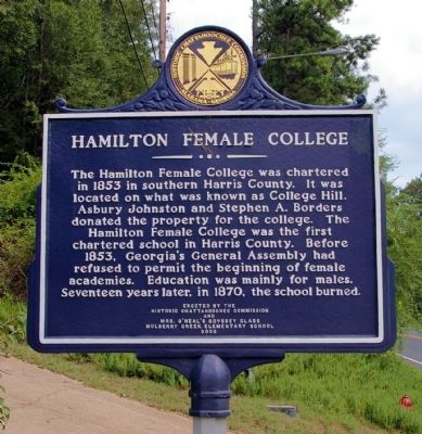 Hamilton Female College Marker image. Click for full size.