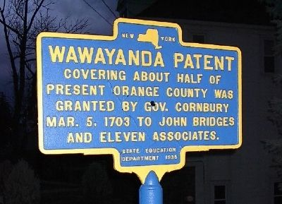 Wawayanda Patent Marker image. Click for full size.