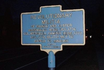 Revolutionary Militia of Orange and Ulster Marker image. Click for full size.