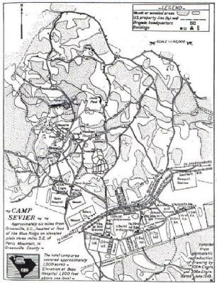 Map of Camp Sevier image. Click for full size.