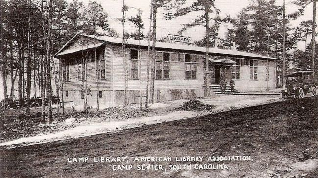 Camp Library, Camp Sevier, SC image. Click for full size.
