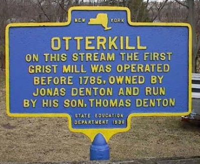 Denton Grist Mill Marker image. Click for full size.