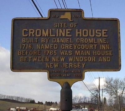Site of Cromline House Marker image. Click for full size.