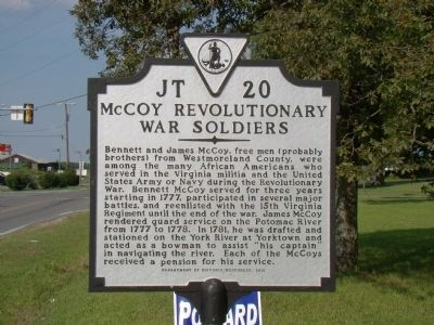 McCoy Revolutionary Soldiers Marker image. Click for full size.