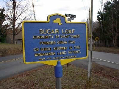 Sugar Loaf Community of Craftsmen Marker image. Click for full size.
