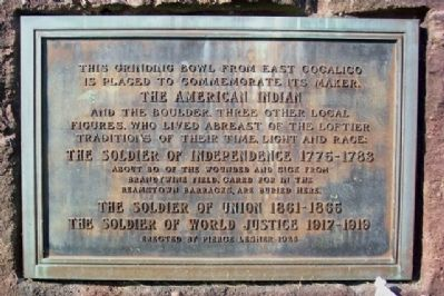 The American Indian and the American Soldier Marker image. Click for full size.