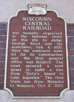 Wisconsin Central Railroad Marker image. Click for full size.
