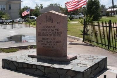 Jeff Davis County Veterans Memorial Marker image. Click for full size.