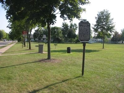 Revolutionary War Veterans Marker / Thelen Park image. Click for full size.