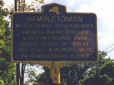 Hambletonian Marker image. Click for full size.