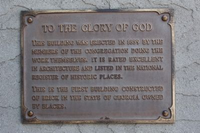 The First African Baptist Church Marker, Plaque 2 image. Click for full size.
