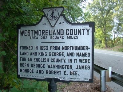Westmoreland County Face of Marker image. Click for full size.