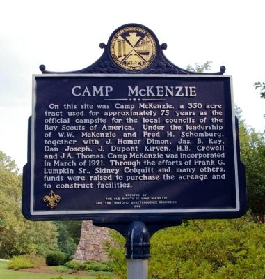Camp McKenzie Marker image. Click for full size.