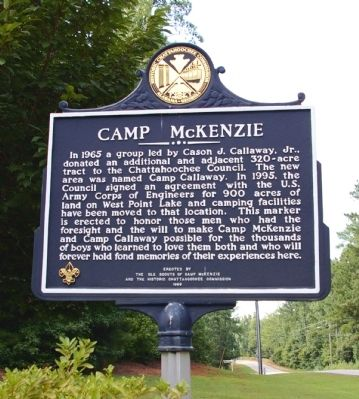 Camp McKenzie Marker -- Side 2 image. Click for full size.