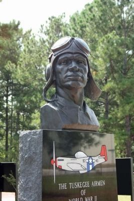 Close-up, Tuskegee Airmen Monument image. Click for full size.