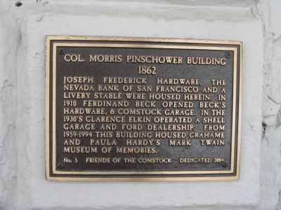 Col. Morris Pinschower Building Marker image. Click for full size.