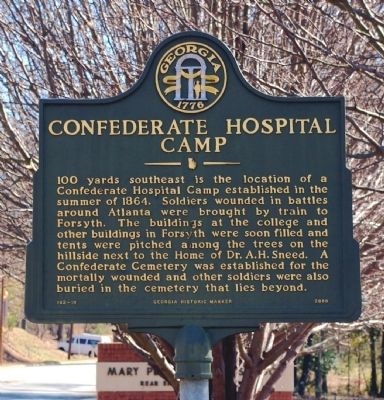Confederate Hospital Camp Marker image. Click for full size.